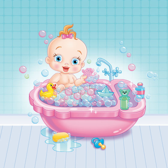 Ilustração para o Brinquedo Bebê Banhinho