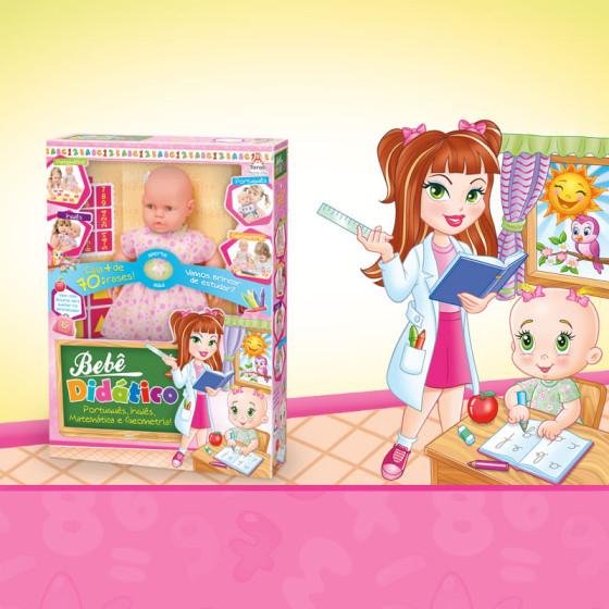 Criação Embalagem da Boneca Bebê Didático