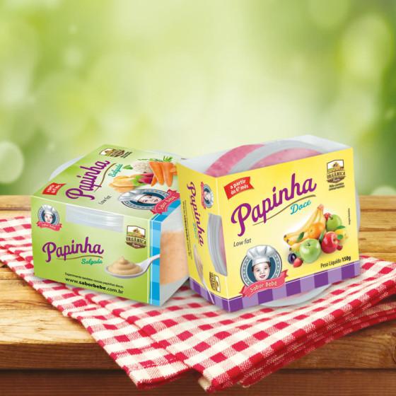 Criação de embalagens para Papinhas Orgânicas