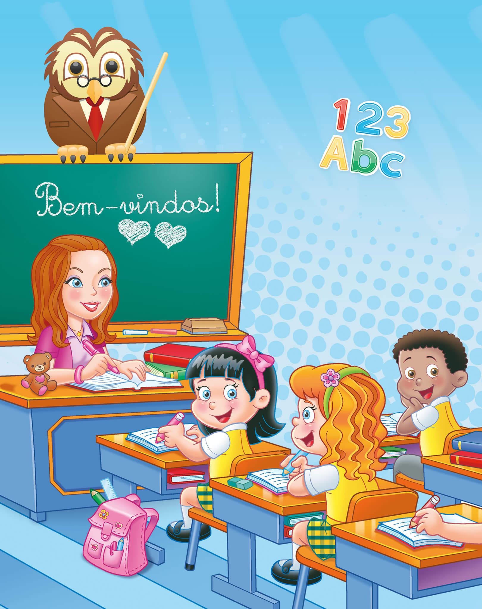 Ilustração Embalagem Escolinha da Raíssa