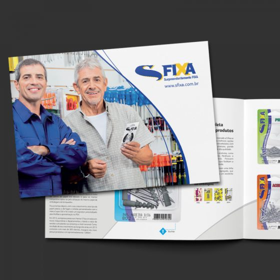 Folder e Digital Mockup S-Fixa
